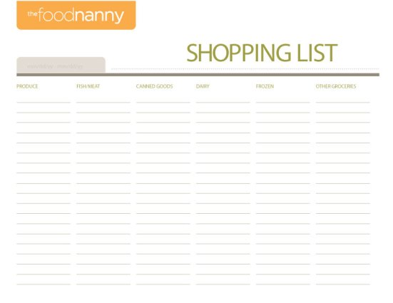 FN Shopping List